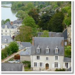 The river valley and charming homes surrounding Chateau Amboise