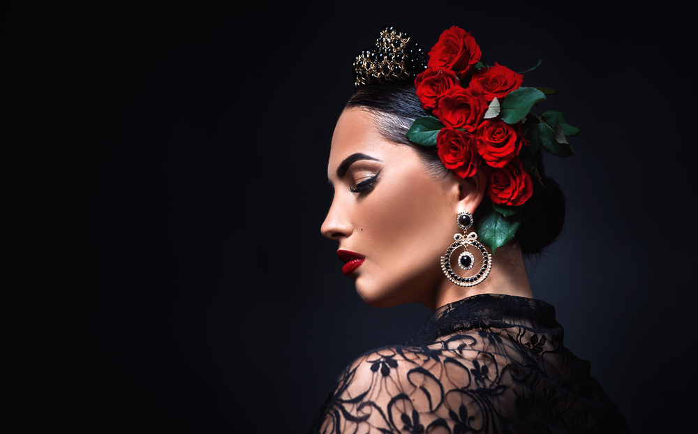 beautiful girl spanish style